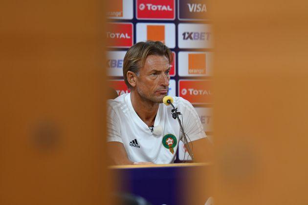 Le coach Hervé Renard lors d'une conférence de presse au Caire, en Egypte, le 27 juin 2019...