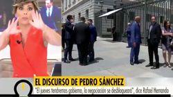 Sonsoles Ónega (Telecinco) suelta esto en directo durante la investidura y pide perdón un segundo