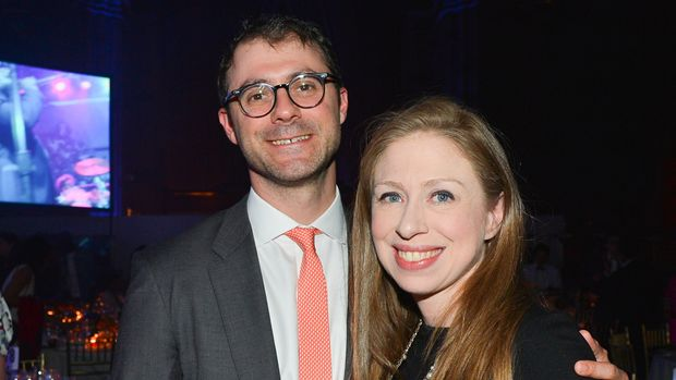 NEW YORK, NY - JUNE 4: Marc Mezvinsky and Chelsea Clinton attend The Gordon Parks Foundation Awards Dinner and Auction at Cipriani 42nd Street, NYC on June 4, 2019 in New York City. (Photo by Patrick McMullan/Patrick McMullan via Getty Images)