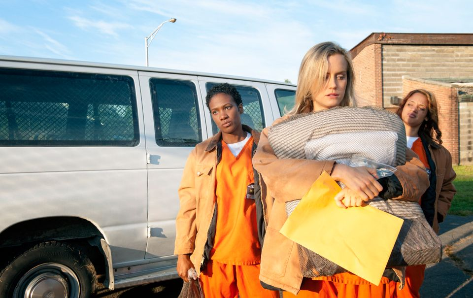 Taylor Schilling in the first season of Orange Is The New