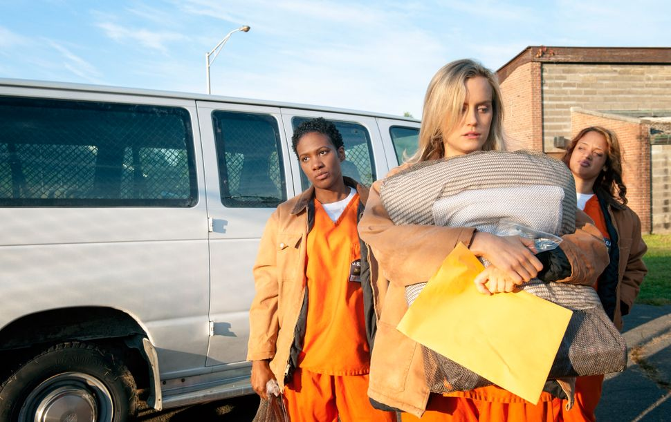Taylor Schilling in the first season of Orange Is The New Black