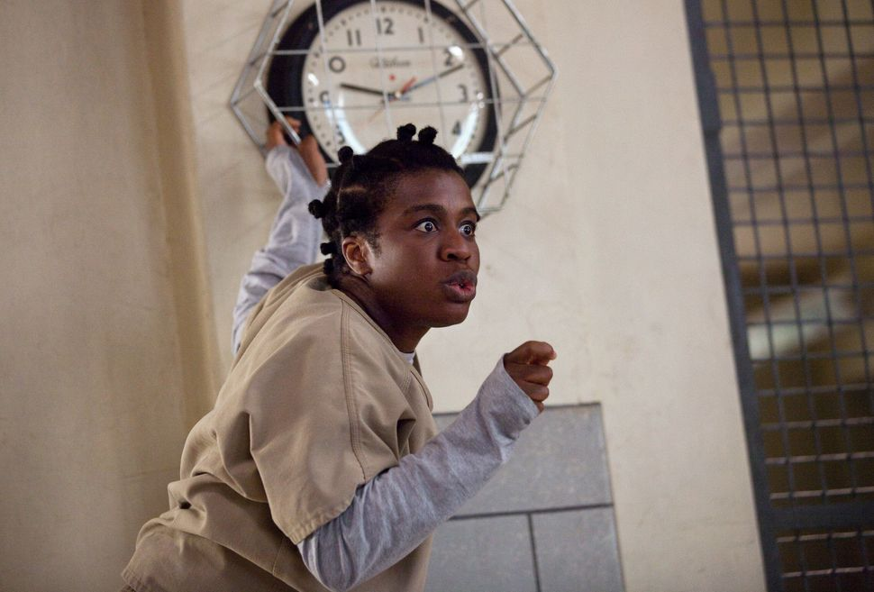Uzo Aduba in character as Suzanne