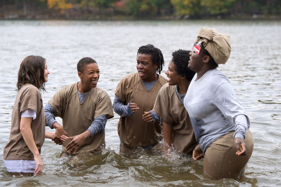 The series three finale saw the inmates having fun in a lake