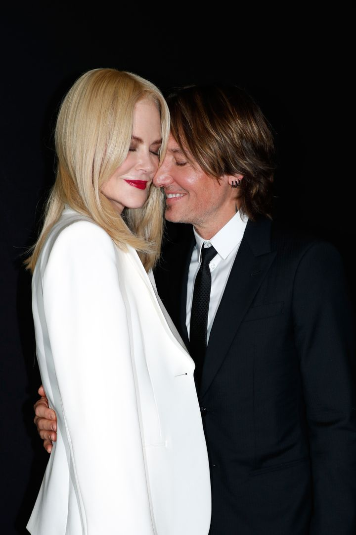 Nicole Kidman and Keith Urban attend the Giorgio Armani Prive Haute Couture Fall/Winter 2019 2020 show as part of Paris Fashion Week on July 2 in Paris.