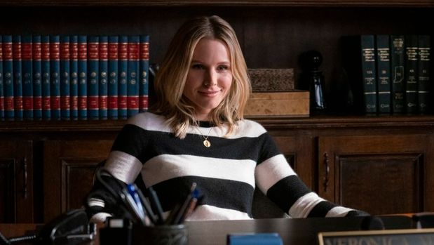 "Veronica Mars -- ""Spring Break Forever"" - Episode 401 -- Panic spreads through Neptune when a bomb goes off during spring break. Veronica and Keith are hired by the wealthy family of one victim injured in the bombing to find out who is responsible. Veronica Mars (Kristen Bell), shown. (Photo by: Michael Desmond/Hulu)"