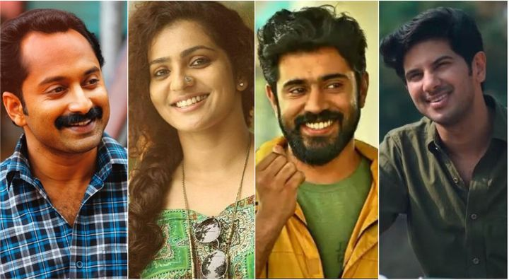 Fahadh Faasil, Parvathy Thiruvothu, Nivin Pauly and Dulquer Salmaan