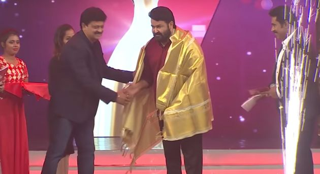 Mohanlal feted at the Red FM Malayalam Music Awards