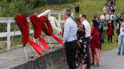 Une croix gammée découverte sur un mémorial pour les victimes de la tuerie d'Utoya, en