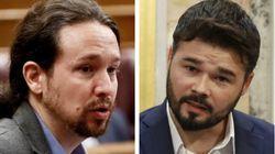 Iglesias responde en Twitter al dato que ha dado Rufián en el Congreso: sutil y