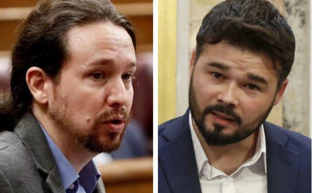 Pablo Iglesias responde en Twitter al dato que ha dado Gabriel Rufián en el Congreso: sutil y
