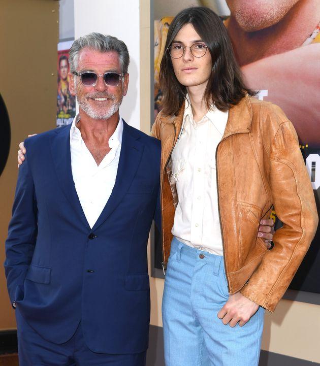Pierce Brosnan and his son Dylan attended the LA premiere of Once Upon A Time In