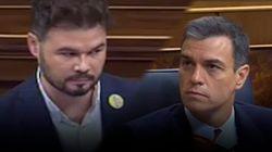 Todos los rifirrafes entre Rufián y Sánchez en el debate de