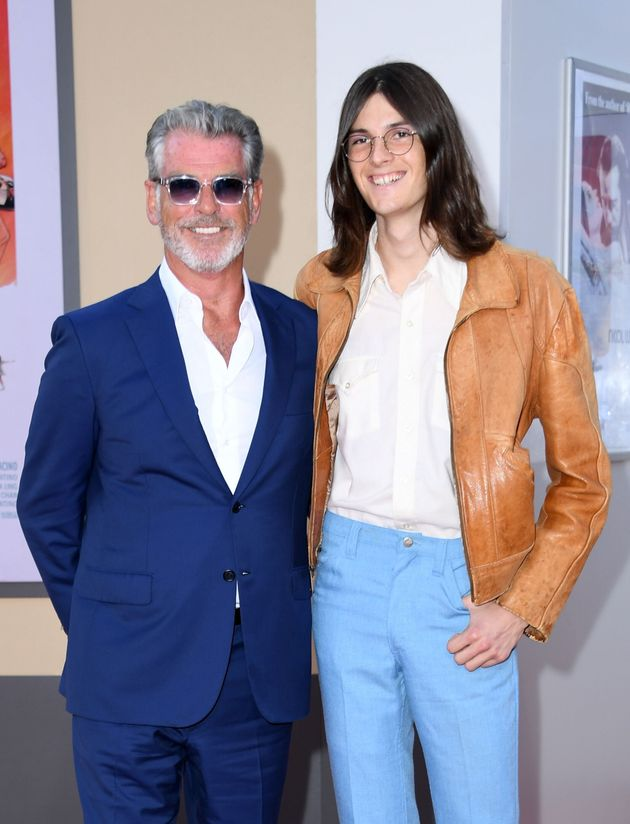 Pierce Brosnan's Model Son Dylan Towers Over The James Bond Star At LA Premiere Of Once Upon A Time In