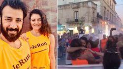 A 10 mesi dall'ictus, Lele Spedicato corre la maratona: