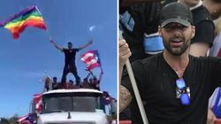 Ricky Martin scatenato sul carro del gay pride a Porto Rico