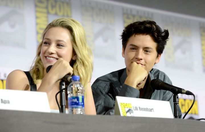 Cole Sprouse and Lili Reinhart attend a Comic-Con panel in San Diego over the weekend.