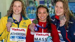 Mondiaux de natation: la Canadienne Kylie Masse obtient l'or au 100 mètres
