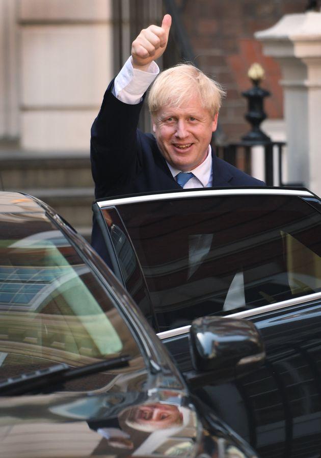 Boris Jonhson, peu après l'annonce de sa victoire à la tête du Parti conservateur...