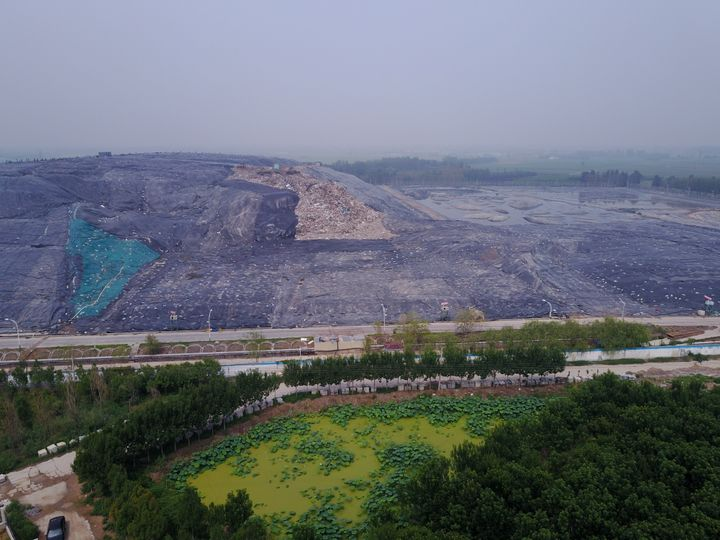A garbage dump near the Yellow River outside the city of Jinan, several hundred miles away from Shanghai.