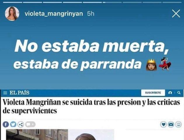 Violeta ('Supervivientes') contesta a la información más morbosa sobre ella: