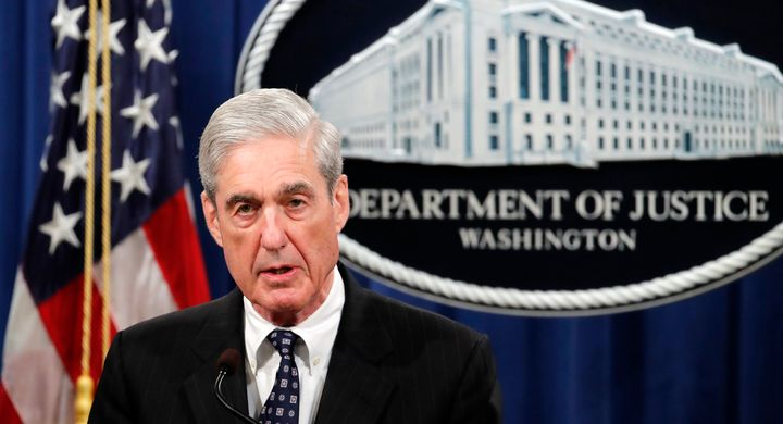 Robert Mueller at his press conference in May.