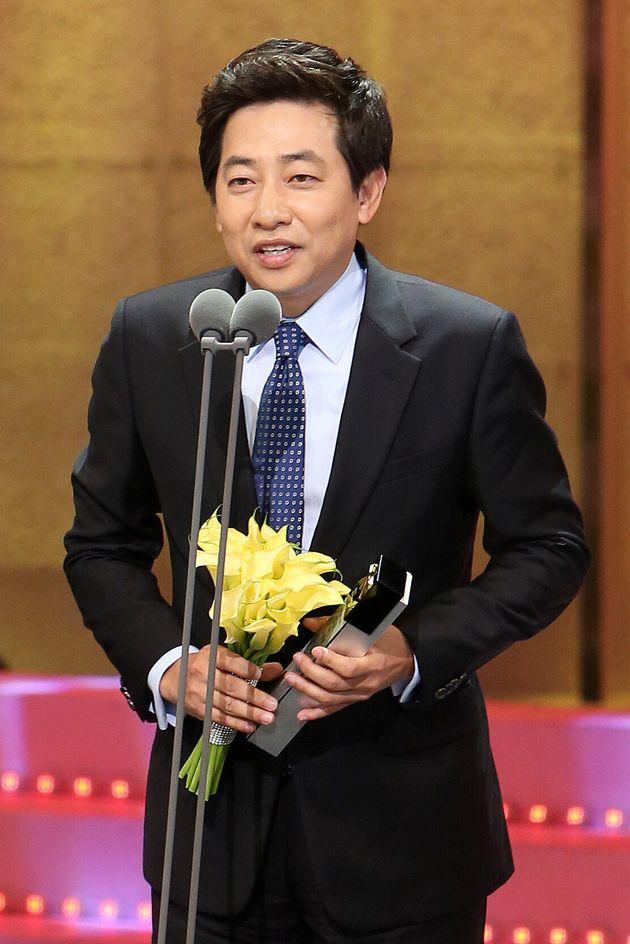 2013년 '제40회 한국방송대상 시상식'에서 앵커상을 수상한 김성준 앵커의