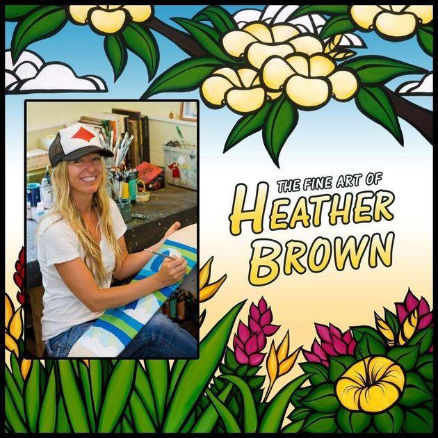 '서프 아트'의 대표 작가 헤더 브라운(Heather