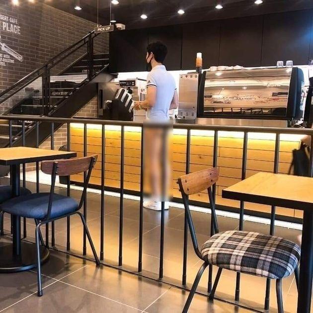티팬티만 입고 카페 방문한 남성에 대한 현행법상 처벌