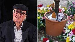 L'arancino veglia sulla tomba di Camilleri: l'omaggio della Sicilia al suo illustre