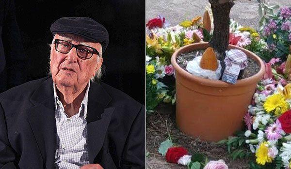 L'arancino veglia sulla tomba di Andrea Camilleri: l'omaggio della Sicilia al suo illustre
