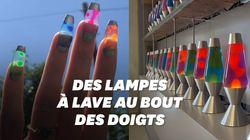 Des lampes à lave sur les doigts, la dernière lubie