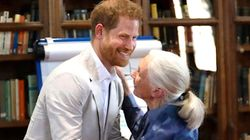 Prince Harry And Jane Goodall Share Dance And 'Chimpanzee