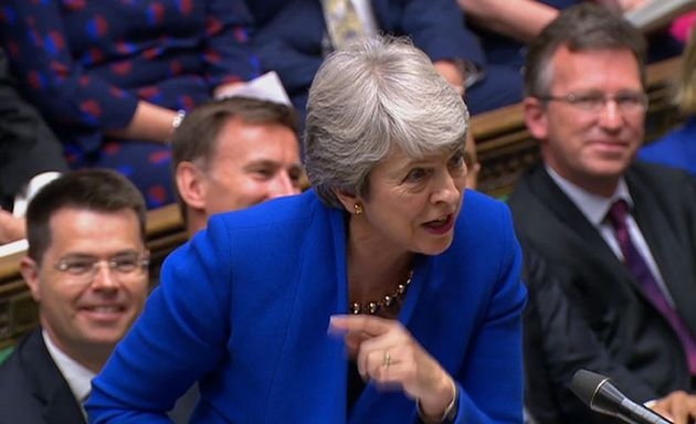 Theresa May Uses Her Final PMQs To Tell Jeremy Corbyn To Resign
