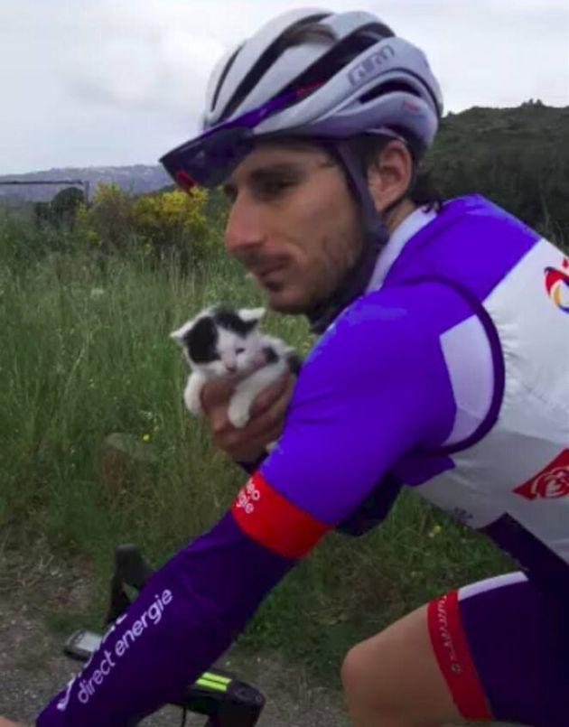 Niccolò Bonifazio, el 'rescatador de gatitos', el último en la etapa del