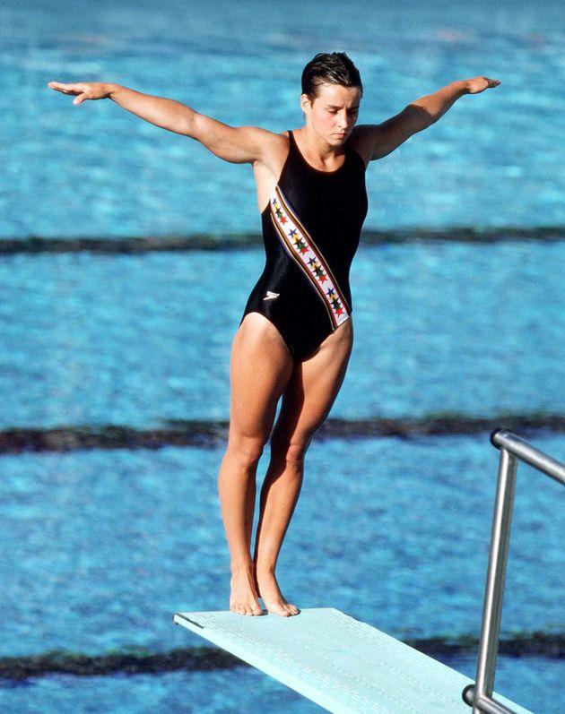 Sylvie Bernier aux Jeux olympiques de Los Angeles en