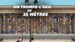 Un trompe-l'œil géant recouvre la façade du Palais