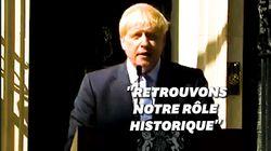 Un 1er discours 100% Brexit pour Boris Johnson Premier