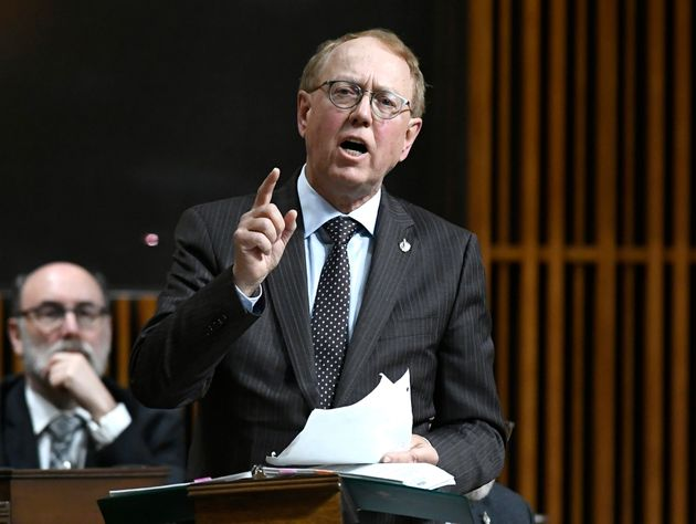 NDP MP Murray Rankin speaks in the House of Commons on Feb. 28,