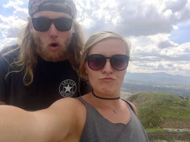 Chynna Deese and her boyfriend Lucas Fowler pose for a selfie. The couple were found murdered along the...