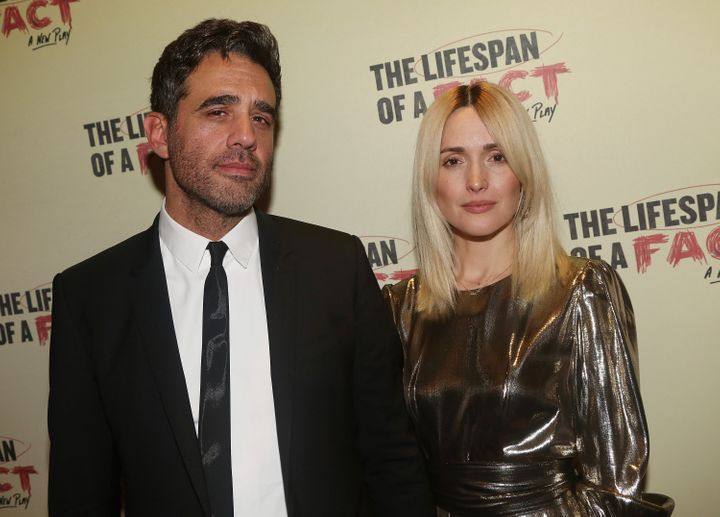 """Byrne and Cannavaleat the opening night after-party for the play """"The Lifespan of A Fact"""" on Broadway on Oct. 18, 2018 in New York City"""