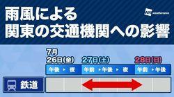 明日25日にも台風へ 週末は関東荒天、千葉・神奈川で交通機関に影響の可能性