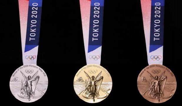 7月24日発表された2020年の東京オリンピックのメダル(おもて面)