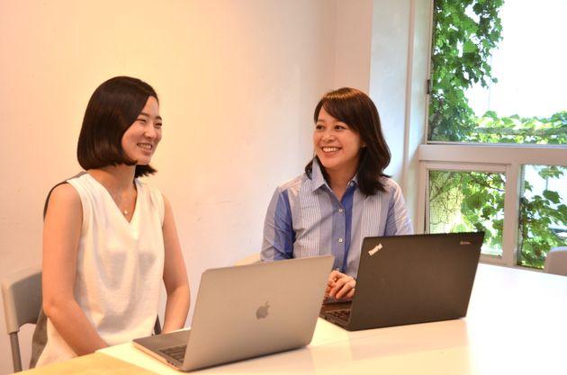 古賀林観さんと大倉瑶子さん(左から)