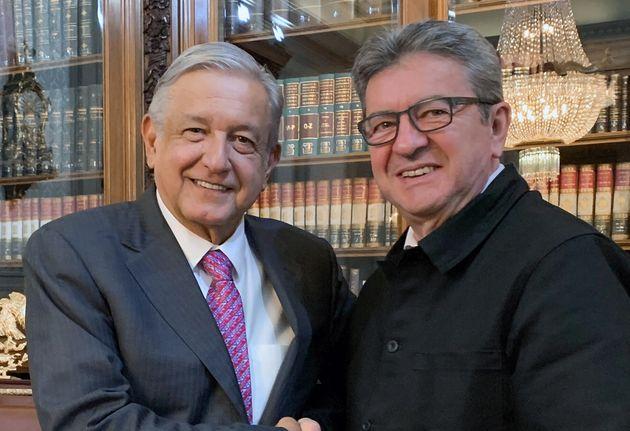 Jean-Luc Mélenchon rencontre le président Andrés Manuel Lopez Obrador le 24 juillet...