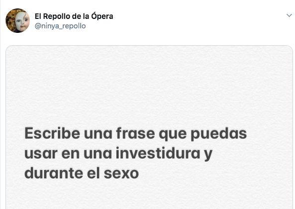 Las dos palabras elegidas por Pablo Iglesias para contestar a este tuit sobre investidura y
