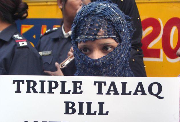 Protest against Triple Talaq Bill in January,