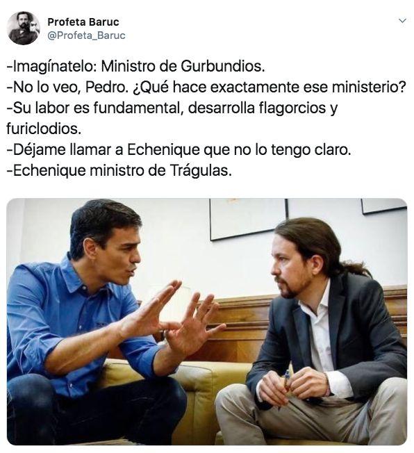 La imagen antigua de Pedro Sánchez y Pablo Iglesias con la que se están haciendo las mejores bromas de...