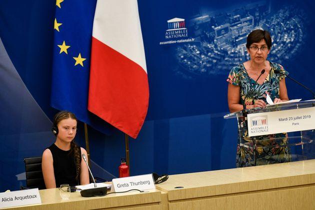 Valérie Masson-Delmotte lors de son intervention à l'Assemblée nationale, mardi...