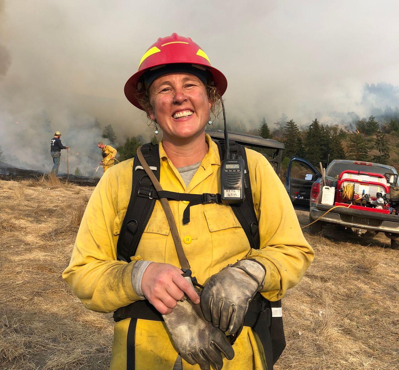 Lenya Quinn-Davidson, co-founder of the Humboldt Prescribed Burn Association, on a burn last fall.