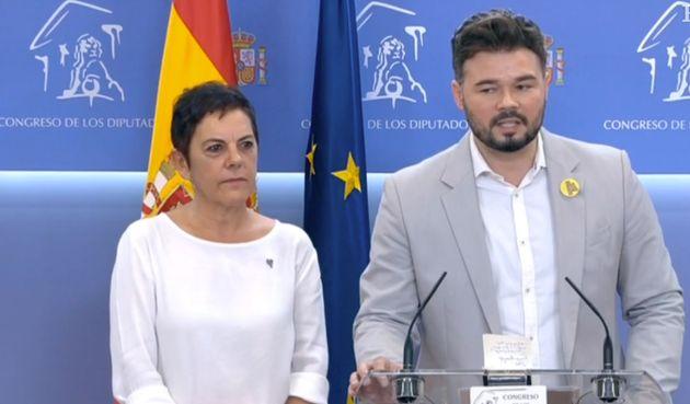 ERC y Bildu anuncian su abstención en la investidura de